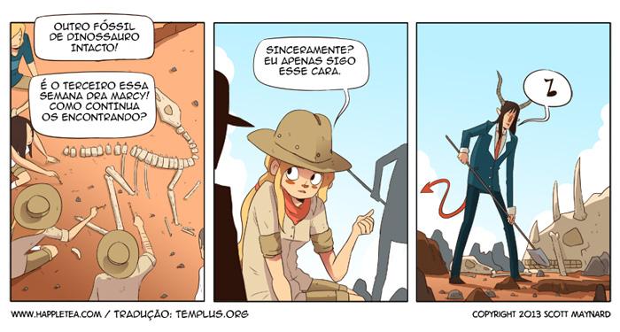 Plantando fósseis